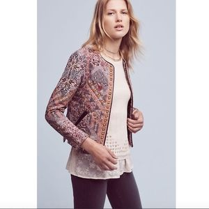 Anthropologie Studded Quilt Jacket size Small NWOT